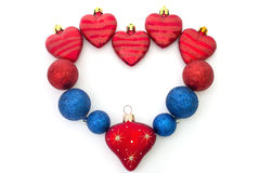 The heart of Christmas toys Royalty Free Stock Photo