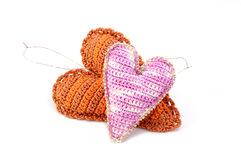 Heart Christmas-tree decorations Royalty Free Stock Photography