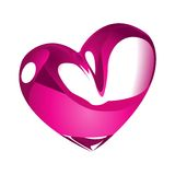 Heart in Chrome. A vector illustration of heart with chrome effect stock illustration