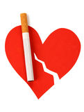 Heart and cigarette Stock Image