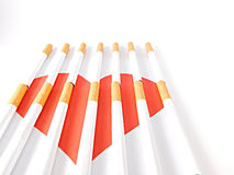 Heart with cigarette bars Stock Images