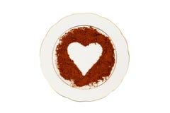 Heart in cinnamon Stock Photos