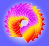 Heart Circle Blue Royalty Free Stock Photo
