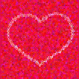 Heart from a circles Royalty Free Stock Photo
