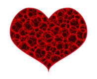 Heart from circles, eps10 Royalty Free Stock Image
