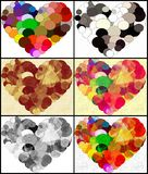 Heart circles Royalty Free Stock Photos