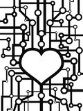 Heart circuit Royalty Free Stock Photos