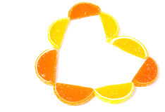 Heart citrus Stock Image