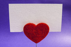 Heart clip card Royalty Free Stock Photos