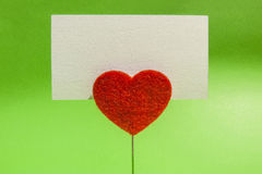Heart clip card Royalty Free Stock Images