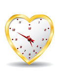 Heart clock Stock Photography