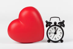 Heart and clock Royalty Free Stock Photos