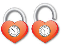 Heart with clock Stock Image