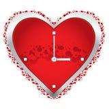 Heart clock Stock Photography