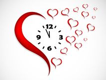 Heart clock Royalty Free Stock Photography
