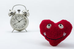 Heart clock Stock Photo