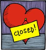 Heart is closed Royalty Free Stock Photos