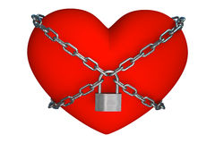 Heart is closed to lock Stock Photography