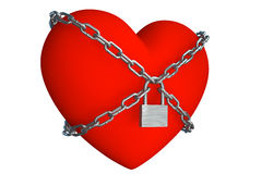 Heart is closed to lock Royalty Free Stock Image