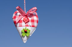 Heart of cloth with blue sky Royalty Free Stock Photography