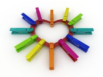 Heart with clothes peg Stock Image
