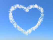 Heart Cloud. Heart symbol formed from clouds Stock Image