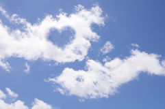 Heart from cloud Stock Images
