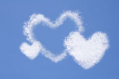 Heart from cloud Royalty Free Stock Image