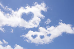 Heart from cloud Royalty Free Stock Images