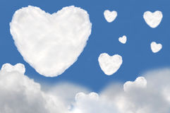 Heart cloud. Heart shape made from cloud  with blue sky Stock Photography
