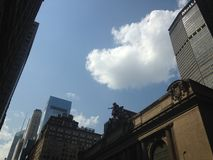 Heart Cloud above Grand Central Terminal. Royalty Free Stock Photos
