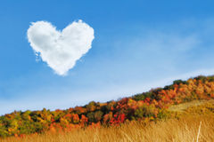 Heart cloud at autumn day Royalty Free Stock Photos