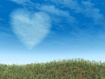 Heart Cloud Blue Sky Royalty Free Stock Image