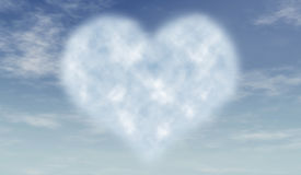 Heart cloud in blue sky Royalty Free Stock Photo