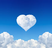 Heart from cloud Stock Image