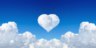 Heart from cloud Royalty Free Stock Photo