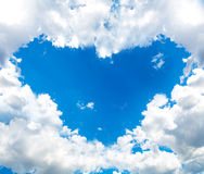 Heart cloud in the blue sky Royalty Free Stock Photo