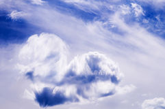 Heart from cloud in the blue sky Royalty Free Stock Photo