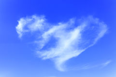 Heart cloud of Blue sky Royalty Free Stock Photography