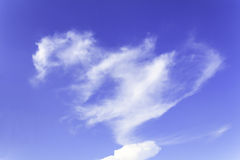 Heart cloud of Blue sky Royalty Free Stock Image