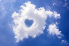 Heart in cloud on the blue sky Royalty Free Stock Image