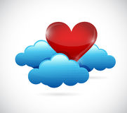 Heart cloud concept illustration design graphic. Royalty Free Stock Photos
