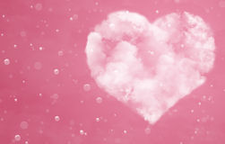 Heart from cloud and drops Royalty Free Stock Images