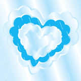 Heart cloud rain Stock Photography