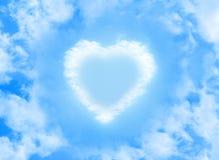 Heart cloud shape on blue sky Stock Photo