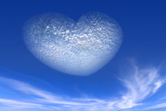 Heart from cloud on sky Royalty Free Stock Photo