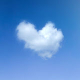 Heart cloud symbol Stock Photo