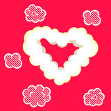 Heart cloud valentine card template. Stock Image