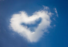 heart cloud in valentine's day Stock Photo