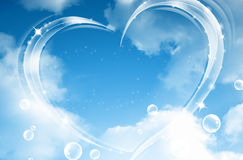 Heart and clouds Royalty Free Stock Photos